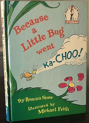 Dr Seuss Because A Little Bug Went Ka- Choo 1ST/1ST With Complete Number Line