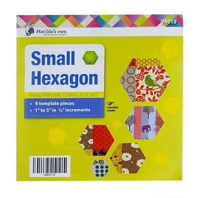 Small Hexagon Patchwork Template Set Matildas Own