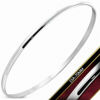 DIA-70mm x 3mm Bangle round Lean Stainless Steel Engraved