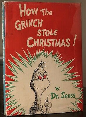 Dr Seuss 1957 How The Grinch Stole Christmas 1ST/1ST In 1ST DJ
