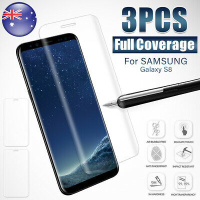 3PCS Samsung Galaxy S10 S9 S8 Full Cover 6D 9H Tempered Glass Screen Protector