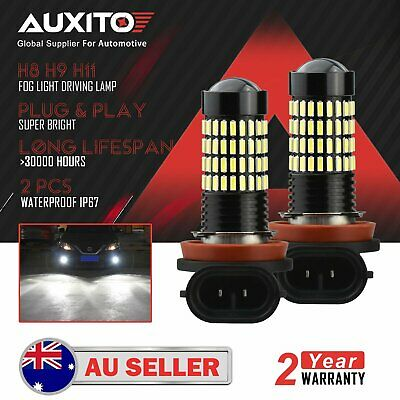2x AUXITO H11 H8 H9 2800LM LED Fog Light Bulbs Lamp DRL Replace Halogen 6000K DD