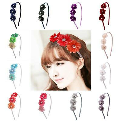 Kids Baby Girls Flower Crown Party Headband Garland Floral Hair Band Accessories