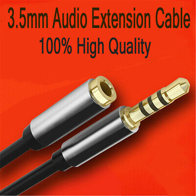 Stereo 3.5mm Audio Jack Extension Cable Male to Female Headphone Aux Cord