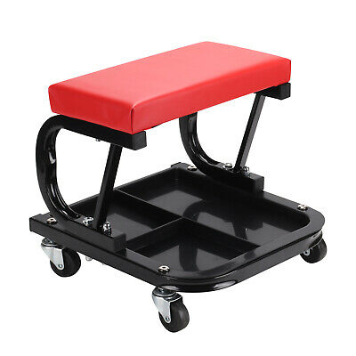 Mechanics padded creeper trolley seat car garage work stool workshop chair seat
