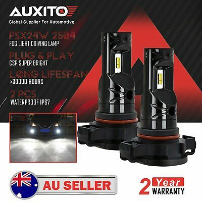 AUXITO PSX24W 2504 CSP LED Fog Light Daytime Running Driving Bulb 6000K Globe D