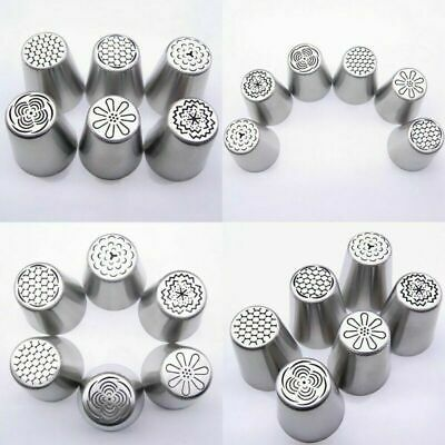 6PCS/SET Russian Tulip Flower Cake Icing Piping Nozzles Decorations Tips Baking!
