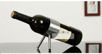 New European Fashion Creative Stainless Steel 1 Bottle Wine Rack Holder &$