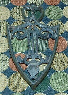 ANTIQUE PRIMITIVE Cast Iron TRIVET Nice Design!