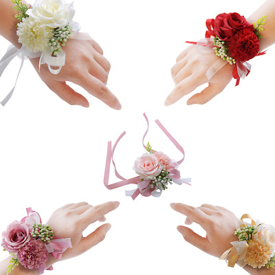 Braccialetto Polso Corpetto Bridesmaid Sisters Hand Flowers Wedding Party Decor