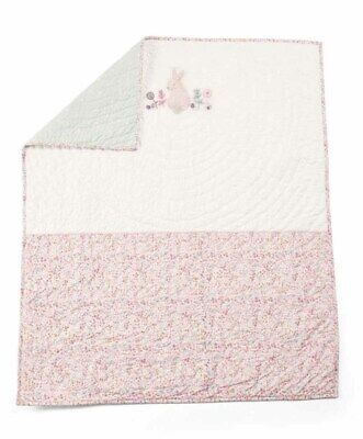 Mamas & Papas Lilybelle Ditsy Floral Pink Hand Quilted Reversible Coverlet