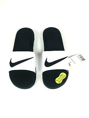 Nike BENASSI SOLARSOFT Mens Black/White 705474-100 Slide Sandal