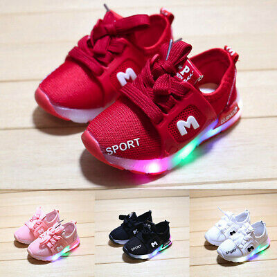 Toddler Kids Baby Girls Led Light Shoes Boys Soft Luminous Outdoor Sport Sandals