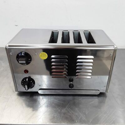 Commercial Toaster 4 Slot Slice Stainless Rowlett 4ATS-151