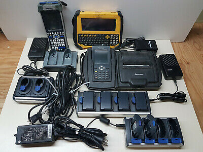 LOT of Intermec Mobile Scanner PW40 CK60 + Battery Charger AC1 AC4 AC6 + more