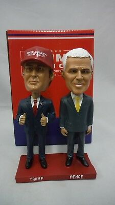 POLITICAL BOBBLE HEADS NEW IN THE BOX  DONALD TRUMP and MIKE PENCE