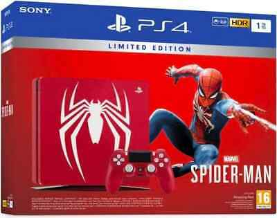 Sony Console Playstation 4 PS4 Slim 1TB Wifi+Spiderman Limited Edition 9724810