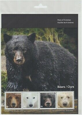 Canada - *NEW* Bears of Canada Stamp Pane (2019)  - MNH