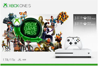 Microsoft Xbox One S 1000 Gb 1 Tb LAN Wifi Bianco + Game Pass 3 Mesi 234-00354