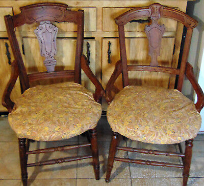 Two Antique 'east Lake' Chairs - Excellent!