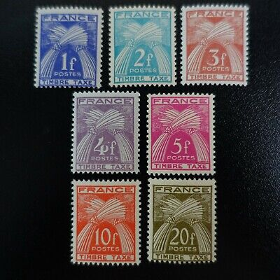 France Timbre Taxe N°81/87 Type Gerbes Neuf ** Luxe Mnh