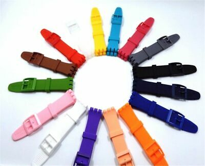Wrist Watch Band Strap For Swatch Rubber Silicone Replacement Watchband Bracelet
