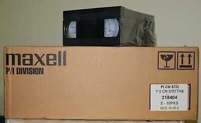 Maxell T-5 Professional VHS Videotape (lot of 100) NOS