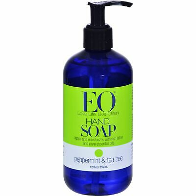 Eo Products Liquid Hand Soap Peppermint And Tea Tree - 12 Fl Oz 3 Pack