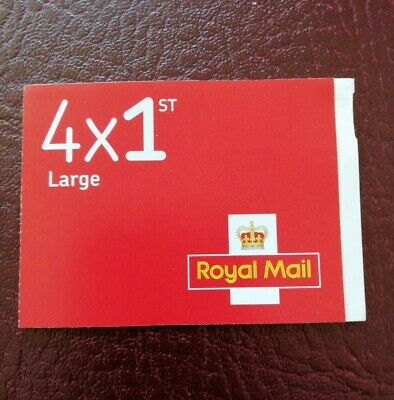1st Class Large Royal Mail Stamps, Booklet of 4, Self Adhesive, FREE Delivery