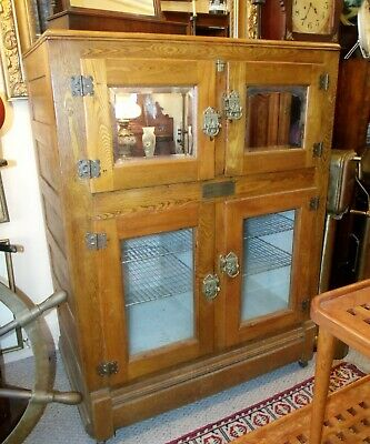 Ca 1880 A DUTCH & CO Confectionery Commercial Shop Icebox