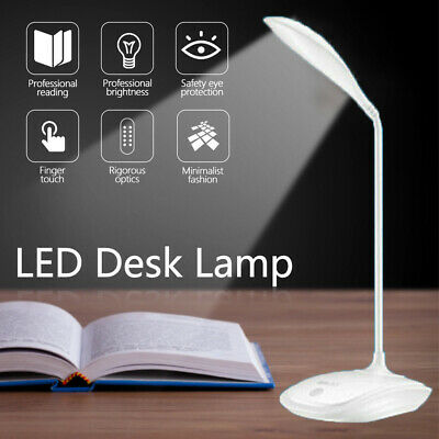 Smart Dimmable Touch Sensor USB LED Table Night Bedside Bed Reading Lamp Lights