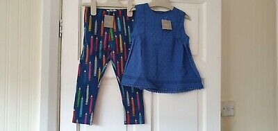 BNWT Next Girls Tunic top & Crayon Leggings Summer outfit 3-4 Years 4 yrs