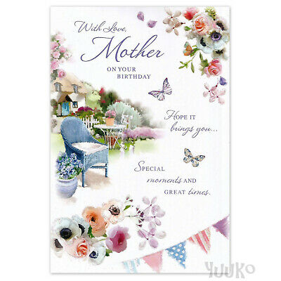 HAPPY BIRTHDAY CARD MUM MOTHER Female Women ~ Butterflies in the Garden