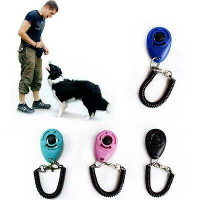 Dog Training Click Whistle Clicker Pet Guide Obedience Pet Trainer Click Fa J4Q8