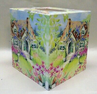 Handmade Decoupage Wood Tissue Box Cover Peacock Made To Order