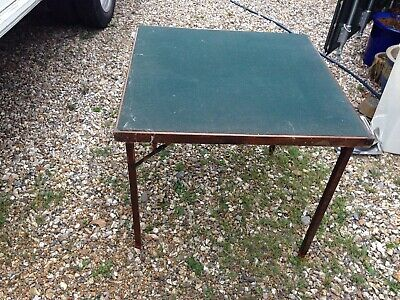 1900s card type table green felted top