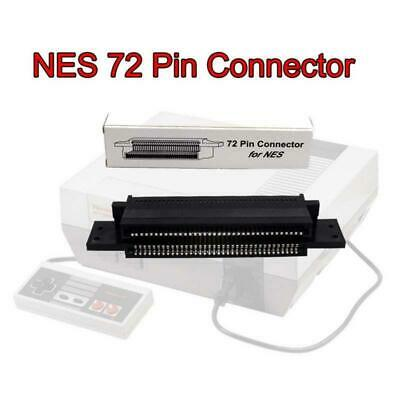 Black 72 Pin Connector Replacement Adapter Slot Nintendo NES Game Cartridge Part