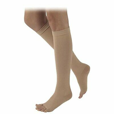 Sigvaris 503 CS20 30-40 mmHg Size S2 Beige / Tan Open Toe Compression Socks