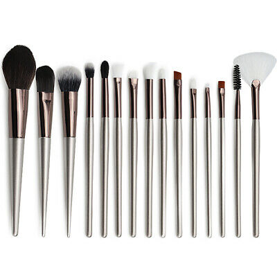 15pcs Pro Makeup Brush Set Cosmetic Foundation Powder Eyebrow Blending Brushes