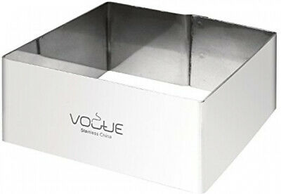 Vogue Square Mousse Rings 4X8X8cm Stainless Steel Cake Cutter Mould Bakerware