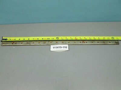 "Copper Bus Bar 25"" Long 1"" Wide 1/4"" Thick Drilled Rectangular"