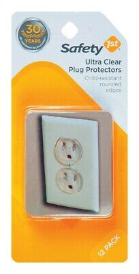 Safety 1st  Clear  Plastic  Outlet Protector  12 pk
