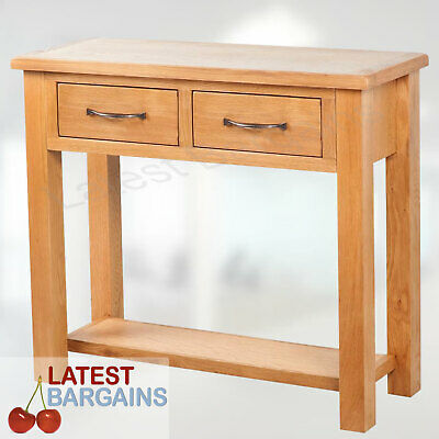 Wood Console Hall Table Furniture Hallway Entry Side Display Stand Drawers