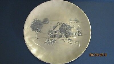 Wendell August Forge Solid Bronze Handmade Plate 1992