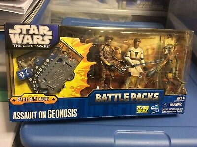 Star Wars The Clone Wars Assault on Geonosis Battle Pack with Battle Game Cards
