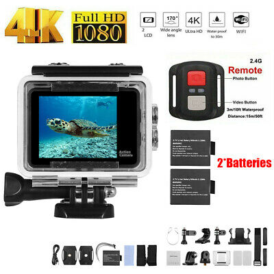 F1 4K/30FTP Full HD WiFi Sports Action Camera Cam Waterproof DVR +Remote N2L3