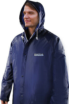 Premium Raincoat Adult Male Navy Blue Large