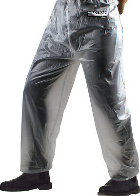 Premium Raincoat Pants Adult Male Transparent Medium