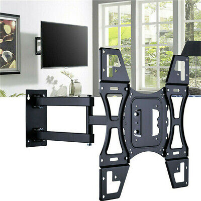 Full motion HD TV Wall Mount Bracket Corner Friendly LED LCD 32 38 40 42 55 Inch