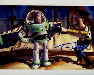 Toy Story Tom Hanks and Tim Allen Woody Buzz 8x10 Photo Signed Autographed COA